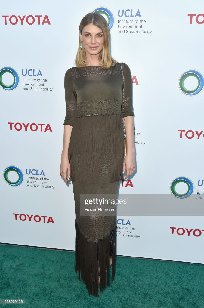 Model Angela Lindvall attends UCLA Institute of the Environment and Sustainability celebrates Innovators For A Healthy Planet at a private residence on March 13, 2017 in Beverly Hills,California.