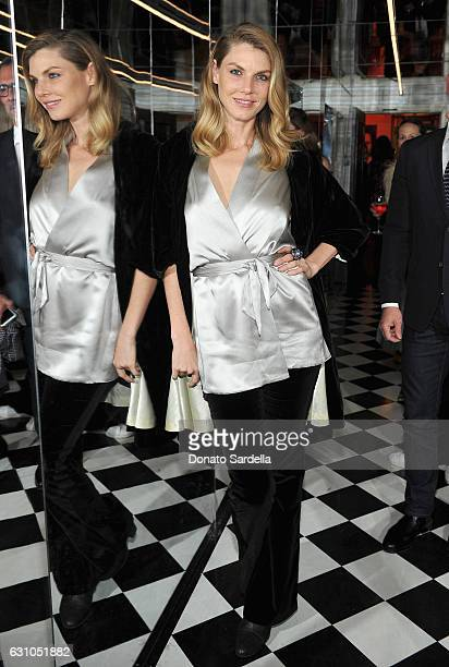 Model Angela Lindvall attends W Magazine Celebrates the Best Performances Portfolio and the Golden Globes with Audi and Moet Chandon at Chateau...