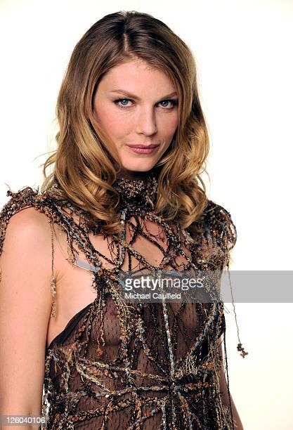 Model Angela Lindvall poses for a portrait at the 2010 Hollywood Style Awards with The Palazzo Las Vegas Klipsch and FRS Healthy Energy at the Hammer...