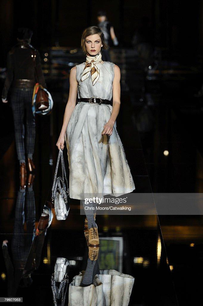 d969210aae26 Model Angela Lindvall walks the runway at the Dolce   Gabbana ...