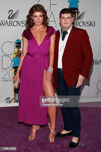 Model Angela Martini and designer Eli Mizrahi attend the 2011 CFDA Fashion Awards at Alice Tully Hall Lincoln Center on June 6 2011 in New York City