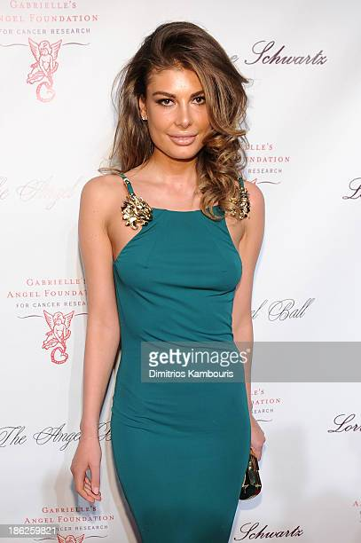 Model Angela Martini attends Gabrielle's Angel Foundation Hosts Angel Ball 2013 at Cipriani Wall Street on October 29 2013 in New York City