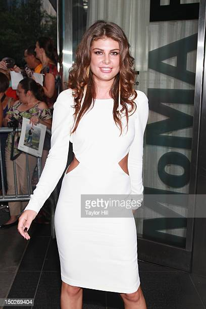 Model Angela Martini attends the 'Cosmopolis' premiere at The Museum of Modern Art on August 13 2012 in New York City