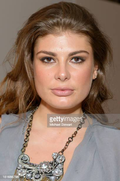 Model Angela Martini attends the Rad By Rad Hourani Unisex Collection show during Spring 2013 MercedesBenz Fashion Week at on September 9 2012 in New...