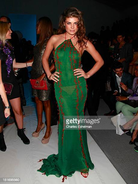 Model Angela Martini attends the Zang Toi Spring 2013 MercedesBenz Fashion Week Show at The Stage Lincoln Center on September 9 2012 in New York City