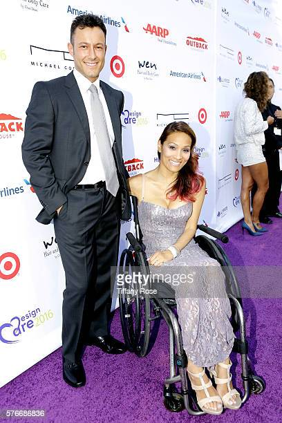 Model Angela Rockwood and guest attend HollyRod Foundation's DesignCare Gala on July 16 2016 in Pacific Palisades California