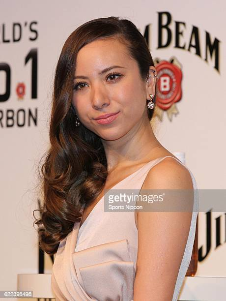 Model Angelica Michibata attends the Jim Beam promotional event on January 21 2014 in Tokyo Japan