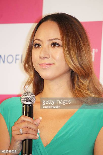 Model Angelica Michibata attends the Lactacyd products promotional event on November 10 2015 in Tokyo Japan