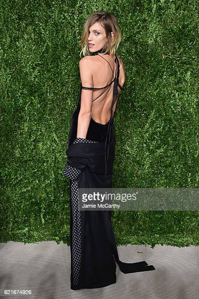 Model Anja Rubik attends 13th Annual CFDA/Vogue Fashion Fund Awards at Spring Studios on November 7 2016 in New York City