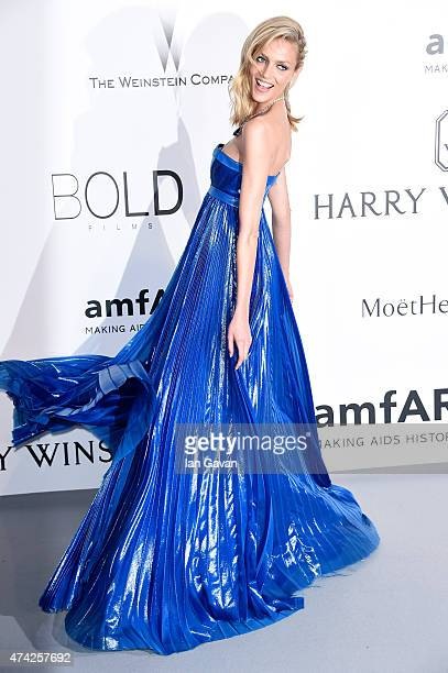 Model Anja Rubik attends amfAR's 22nd Cinema Against AIDS Gala Presented By Bold Films And Harry Winston at Hotel du CapEdenRoc on May 21 2015 in Cap...