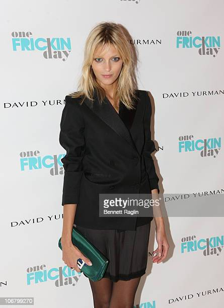 Model Anja Rubik attends the 2010 One Frickin Day charity event at Christie's on November 12 2010 in New York City