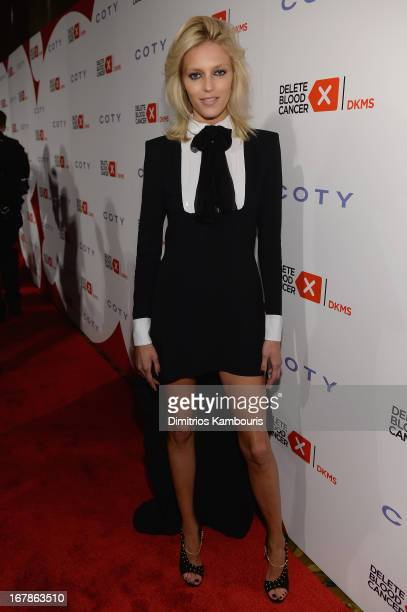 Model Anja Rubik attends the 2013 Delete Blood Cancer Gala honoring Vera Wang Leighton Meester and Suzi WeissFischmann on May 1 2013 in New York City