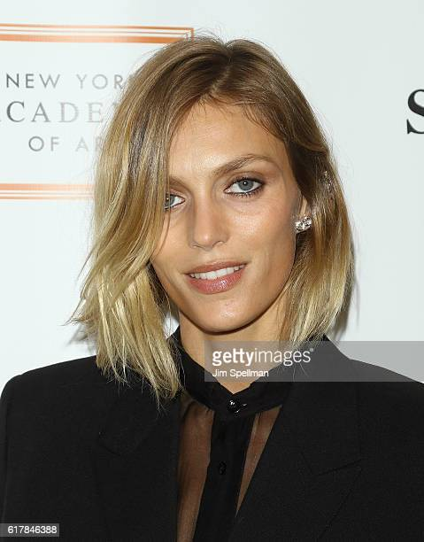 Model Anja Rubik attends the 2016 Take Home A Nude benefiting New York Academy of Art at Sotheby's on October 24 2016 in New York City
