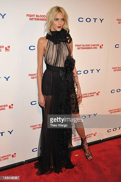 Model Anja Rubik attends the 6th annual DKMS Linked Against Blood Cancer gala at Cipriani Wall Street on April 26 2012 in New York City
