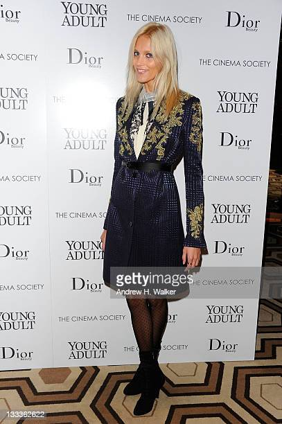 Model Anja Rubik attends the Cinema Society Dior Beauty screening of Young Adult at the Tribeca Grand Screening Room on November 18 2011 in New York...