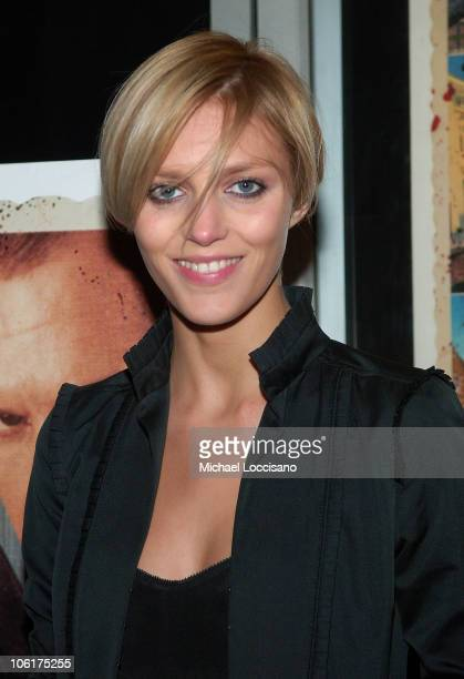 Model Anja Rubik attends the premiere Of 'In Bruges' at the IFC Center in New York City on February 4 2008