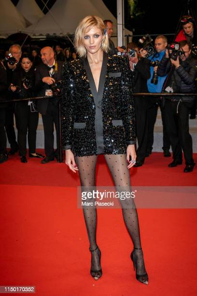 Model Anja Rubik attends the screening of Lux Aetterna during the 72nd annual Cannes Film Festival on May 18 2019 in Cannes France