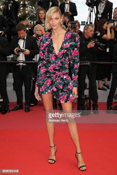 Model Anja Rubik attends the screening of Sink Or Swim during the 71st annual Cannes Film Festival at Palais des Festivals on May 13 2018 in Cannes...