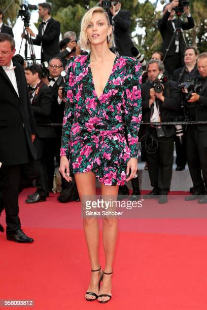 Model Anja Rubik attends the screening of 'Sink Or Swim ' during the 71st annual Cannes Film Festival at Palais des Festivals on May 13 2018 in...