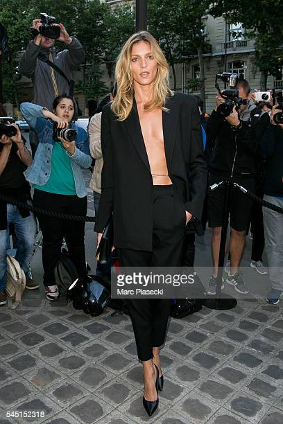 Model Anja Rubik attends the Vogue Foundation Gala 2016 at Palais Galliera on July 5 2016 in Paris France
