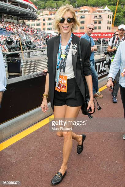 Model Anja Rubik is seen during the Monaco Formula One Grand Prix at Circuit de Monaco on May 27 2018 in MonteCarlo Monaco