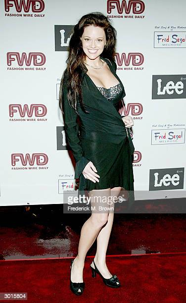 Model Anna Benson attends the Fashion Wire Daily's Next fashion party at the Bliss Nightclub on February 25 2004 in Hollywood California