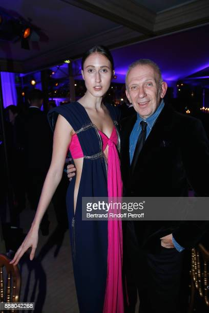Model Anna Cleveland and Stylist JeanPaul Gaultier attend the Annual Charity Dinner hosted by the AEM Association Children of the World for Rwanda at...