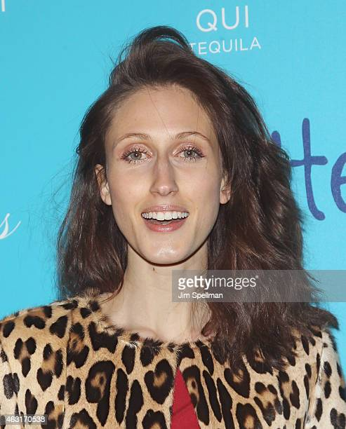 """Model Anna Cleveland attends The Cinema Society and Brooks Brothers host a screening of """"The Rewrite"""" at Landmark's Sunshine Cinema on February 10,..."""