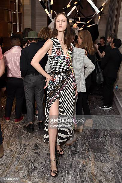 Model Anna Cleveland attends the The Daily Front Row's 4th Annual Fashion Media Awards at Park Hyatt New York on September 8 2016 in New York City