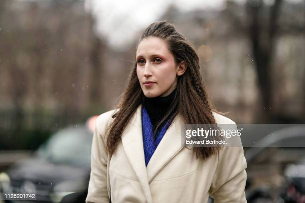 Model Anna Cleveland is seen outside Atelier JeanPaul Gaultier during Paris Fashion Week Haute Couture Spring Summer 2019 on January 23 2019 in Paris...