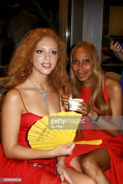 Model Anna Ermakova and her mother Angela Ermakova attend the Remus Lifestyle Night on August 2 2018 in Palma de Mallorca Spain