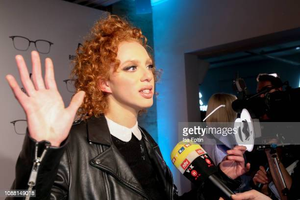 Model Anna Ermakova during the Rodenstock Eyewear Show 'A New Vision of Style' at Isarforum on January 24 2019 in Munich Germany
