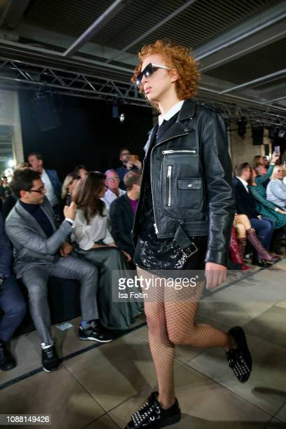 Model Anna Ermakova walks the runway during the Rodenstock Eyewear Show 'A New Vision of Style' at Isarforum on January 24 2019 in Munich Germany