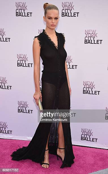 Model Anna Ewers attends the New York City Ballet 2016 Fall Gala at David H Koch Theater at Lincoln Center on September 20 2016 in New York City