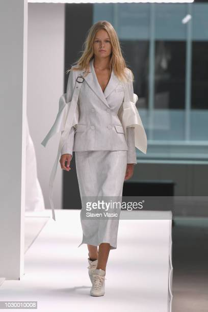 Model Anna Ewers walks the runway at the Sies Marjan show during New York Fashion Week on September 9 2018 in New York City