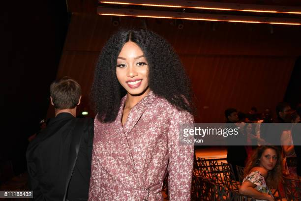 """Model Anna Faye attends the """"Paris Appreciation Awards 2017"""" At The Eiffel Tower on July 8, 2017 in Paris, France."""