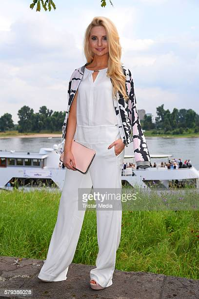 Model Anna Hiltrop attends the Airfield loves fashion cocktail on July 23 2016 in Duesseldorf Germany