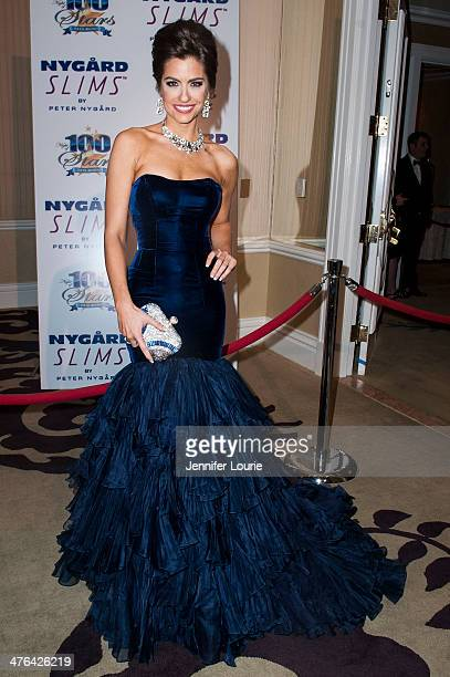 Model Anna Marie Costello attends Norby Walters' 24nd Annual Night of 100 Stars Oscar Viewing Gala at Beverly Hills Hotel on March 2 2014 in Beverly...