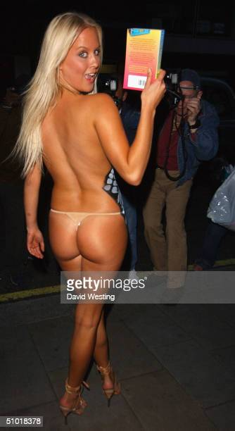 Model Anna Taverner attends Colin Butts' book launch party painted in tire Tracks on July 1 2004 at Embassy Club in London Butts' new Ibiza thriller...