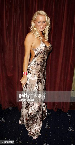 Model Anna Taverner attends the party to celebrate Front Magazine's 100th Issue at Cafe de Paris on August 17 2006 in London England