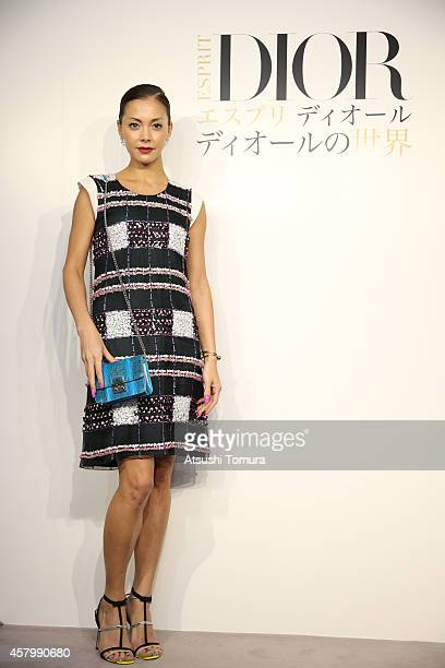 Model Anna Tsuchiya arrives at the 'Esprit Dior' Opening Reception on October 28 2014 in Tokyo Japan