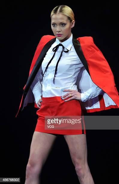 Model Anna Tsuchiya walks the runway during the Tokyo Girls Collection 2012 at Yokohama Stadium on March 3 2012 in Yokohama Japan