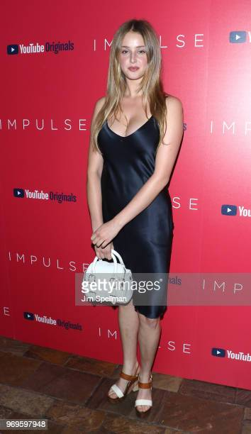 """Model Anna Van Patten attends the screening of """"Impulse"""" hosted by YouTube at The Roxy Cinema on June 7, 2018 in New York City."""
