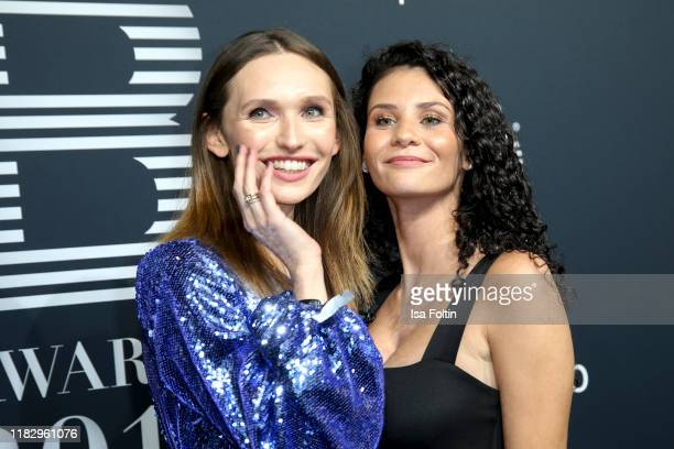 Model Anna Wilken and model Betty Taube at the Place To B Awards at AxelSpringerHaus on November 16 2019 in Berlin Germany