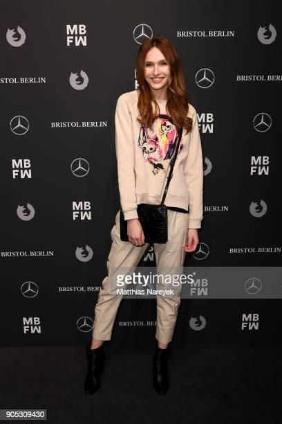Model Anna Wilken attends the Dawid Tomaszewski show during the MBFW Berlin January 2018 at ewerk on January 15 2018 in Berlin Germany