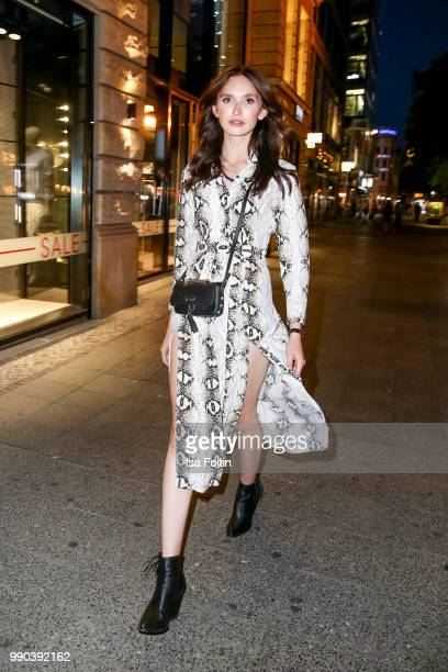 Model Anna Wilken during the Bunte New Faces Night at Grace Hotel Zoo on July 2 2018 in Berlin Germany