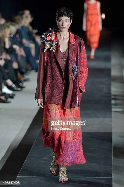 Model Anna Wilken walks the runway during the Wunderkind show as part of Paris Fashion Week Womenswear Spring/Summer 2015 on September 29 2014 in...