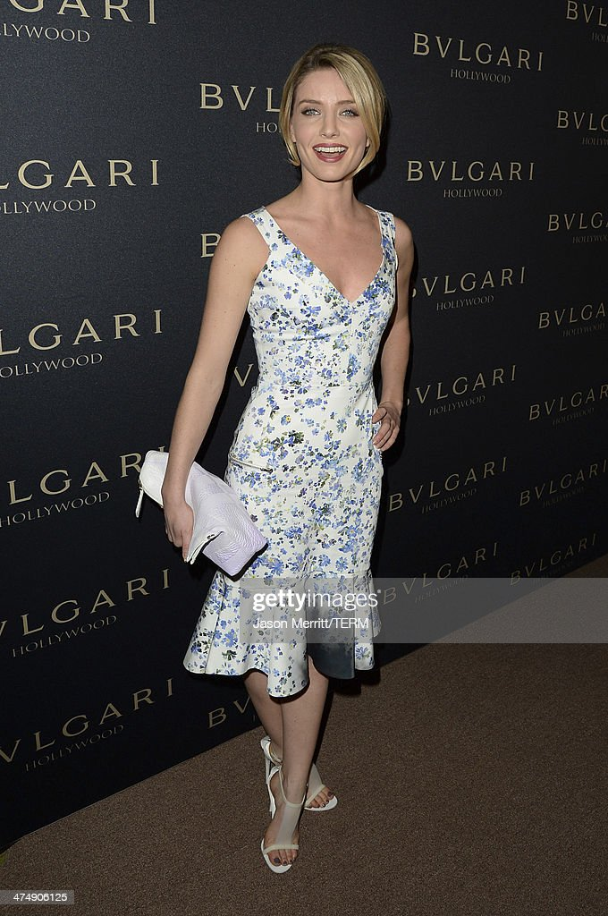 Model Annabelle Wallis attends 'Decades of Glamour' presented by BVLGARI on February 25, 2014 in West Hollywood, California.