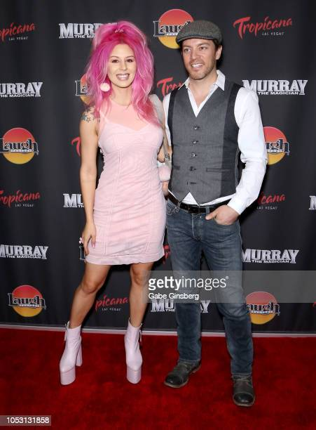 Model Annalee Belle and television personality JD Scott attend the opening of Murray the Magician at the Laugh Factory inside the Tropicana Las Vegas...