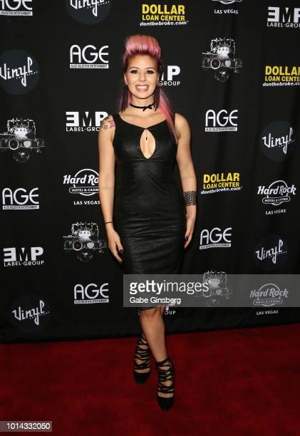Model Annalee Belle attends a CD release party for COOP at Vinyl inside the Hard Rock Hotel Casino on August 9 2018 in Las Vegas Nevada
